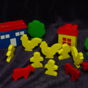 E36: Wooden Farm Playset