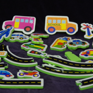 W03: Stick-on bath Vehicles & Road set